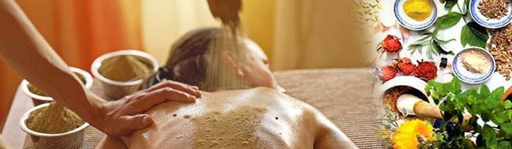 Amchi detox en vetreducerende Udvartana massage